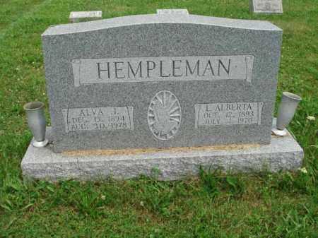 HEMPLEMAN, ALVA J. - Fairfield County, Ohio | ALVA J. HEMPLEMAN - Ohio Gravestone Photos
