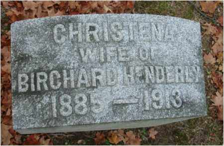 HENDERLEY, CHRISTENA - Fairfield County, Ohio | CHRISTENA HENDERLEY - Ohio Gravestone Photos
