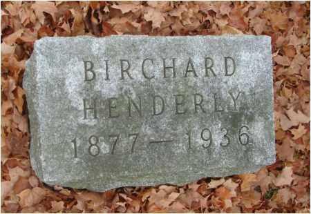 HENDERLY, BIRCHARD - Fairfield County, Ohio   BIRCHARD HENDERLY - Ohio Gravestone Photos