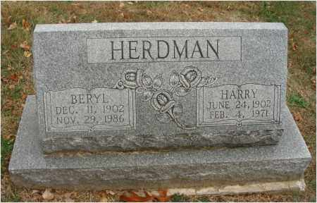 HERDMAN, BERYL - Fairfield County, Ohio | BERYL HERDMAN - Ohio Gravestone Photos