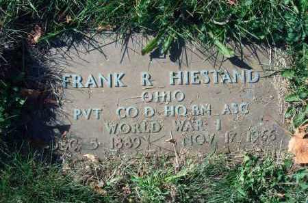 HIESTAND, FRANK R. - Fairfield County, Ohio   FRANK R. HIESTAND - Ohio Gravestone Photos