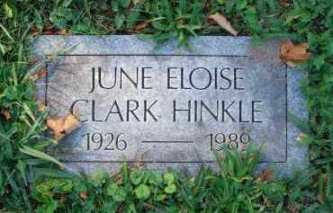 HINKLE, JUNE ELOISE - Fairfield County, Ohio | JUNE ELOISE HINKLE - Ohio Gravestone Photos