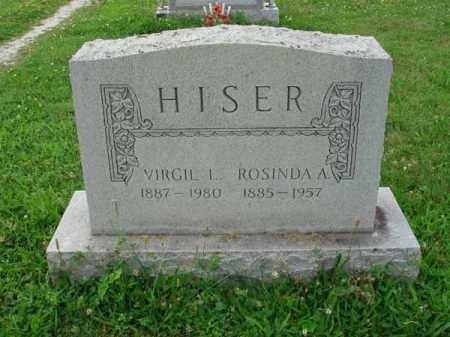 HISER, VIRGIL L. - Fairfield County, Ohio | VIRGIL L. HISER - Ohio Gravestone Photos