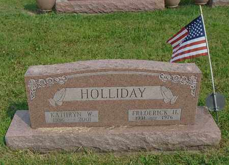 HOLLIDAY, FREDERICK H. - Fairfield County, Ohio | FREDERICK H. HOLLIDAY - Ohio Gravestone Photos