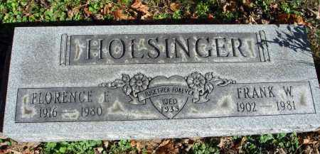 HOLSINGER, FLORENCE E. - Fairfield County, Ohio | FLORENCE E. HOLSINGER - Ohio Gravestone Photos