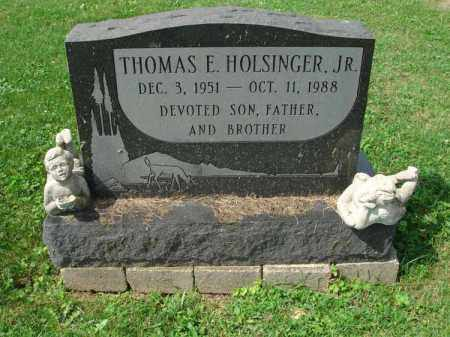 HOLSINGER, THOMAS E. - Fairfield County, Ohio | THOMAS E. HOLSINGER - Ohio Gravestone Photos
