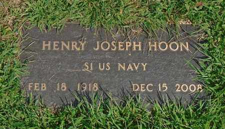 HOON, HENRY JOSEPH - Fairfield County, Ohio | HENRY JOSEPH HOON - Ohio Gravestone Photos