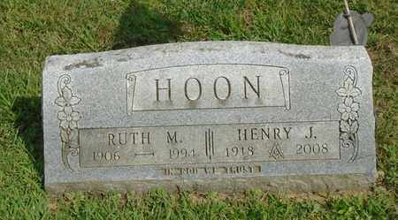 HOON, HENRY J. - Fairfield County, Ohio | HENRY J. HOON - Ohio Gravestone Photos