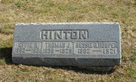 HINTON HOOPER, BESSIE G - Fairfield County, Ohio | BESSIE G HINTON HOOPER - Ohio Gravestone Photos
