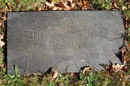 HOUSER, HOPE A. - Fairfield County, Ohio | HOPE A. HOUSER - Ohio Gravestone Photos