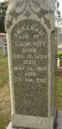 HOY, ABRAHAM - Fairfield County, Ohio | ABRAHAM HOY - Ohio Gravestone Photos