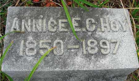 HOY, ANNICE E. C. - Fairfield County, Ohio | ANNICE E. C. HOY - Ohio Gravestone Photos