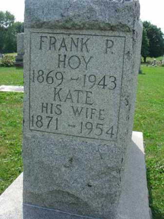 HOY, FRANK P. - Fairfield County, Ohio | FRANK P. HOY - Ohio Gravestone Photos