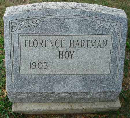 HARTMAN HOY, FLORENCE - Fairfield County, Ohio | FLORENCE HARTMAN HOY - Ohio Gravestone Photos
