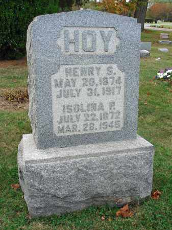 HOY, HENRY S. - Fairfield County, Ohio | HENRY S. HOY - Ohio Gravestone Photos