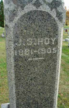 HOY, J. S. - Fairfield County, Ohio | J. S. HOY - Ohio Gravestone Photos