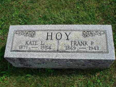 HOY, KATE L. - Fairfield County, Ohio | KATE L. HOY - Ohio Gravestone Photos