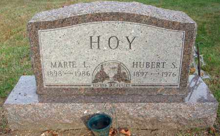 HOY, HUBERT S. - Fairfield County, Ohio | HUBERT S. HOY - Ohio Gravestone Photos
