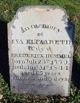 HUMMEL, EVA ELIZABETH - Fairfield County, Ohio | EVA ELIZABETH HUMMEL - Ohio Gravestone Photos