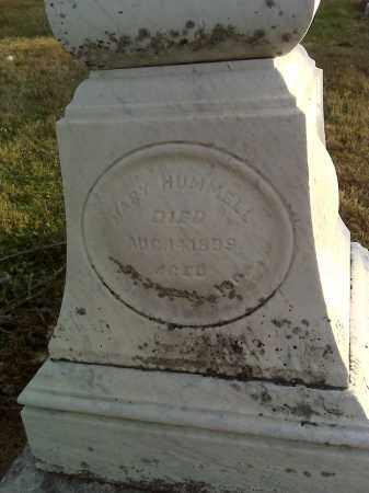 HUMMELL, MARY - Fairfield County, Ohio | MARY HUMMELL - Ohio Gravestone Photos