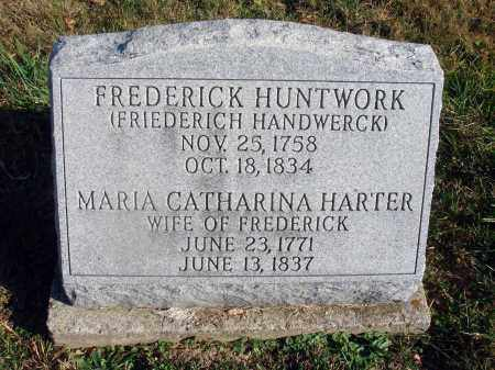 HUNTWORK, FREDERICK - Fairfield County, Ohio | FREDERICK HUNTWORK - Ohio Gravestone Photos