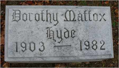 HYDE, DOROTHY - Fairfield County, Ohio | DOROTHY HYDE - Ohio Gravestone Photos