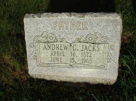 JACKS, ANDREW G. - Fairfield County, Ohio | ANDREW G. JACKS - Ohio Gravestone Photos