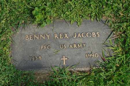JACOBS, BENNY REX - Fairfield County, Ohio | BENNY REX JACOBS - Ohio Gravestone Photos