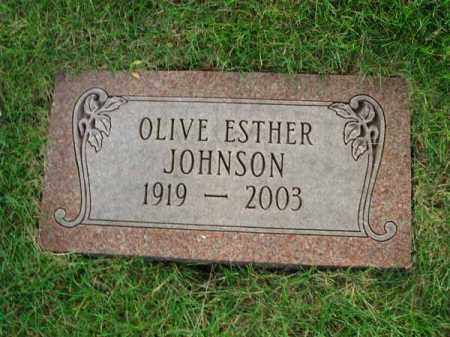 JOHNSON, OLIVE ESTHER - Fairfield County, Ohio | OLIVE ESTHER JOHNSON - Ohio Gravestone Photos