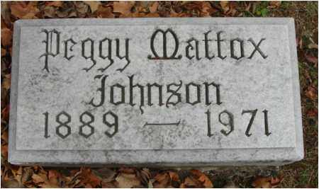 MATTOX JOHNSON, PEGGY - Fairfield County, Ohio | PEGGY MATTOX JOHNSON - Ohio Gravestone Photos