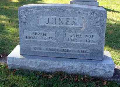JONES, ABRAM - Fairfield County, Ohio | ABRAM JONES - Ohio Gravestone Photos