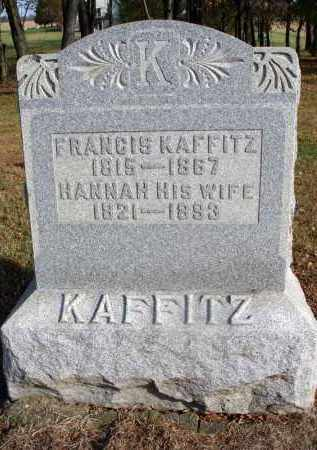 KAFFITZ, FRANCIS - Fairfield County, Ohio | FRANCIS KAFFITZ - Ohio Gravestone Photos