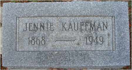 KAUFFMAN, JENNIE - Fairfield County, Ohio | JENNIE KAUFFMAN - Ohio Gravestone Photos