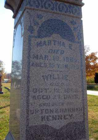 KENNEY, MARTHA E. - Fairfield County, Ohio | MARTHA E. KENNEY - Ohio Gravestone Photos