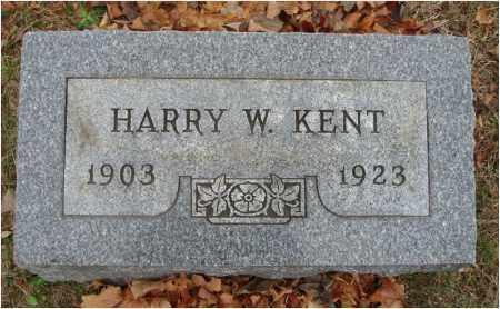 KENT, HARRY W. - Fairfield County, Ohio | HARRY W. KENT - Ohio Gravestone Photos