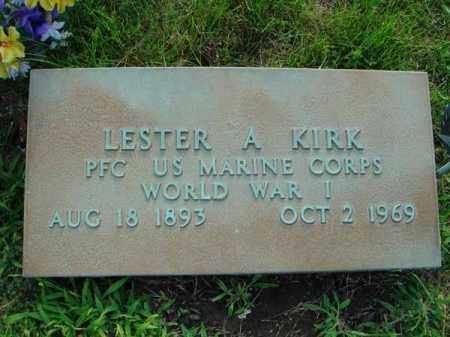KIRK, LESTER A. - Fairfield County, Ohio | LESTER A. KIRK - Ohio Gravestone Photos