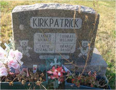KIRKPATRICK, FAITH ELIZABETH - Fairfield County, Ohio | FAITH ELIZABETH KIRKPATRICK - Ohio Gravestone Photos