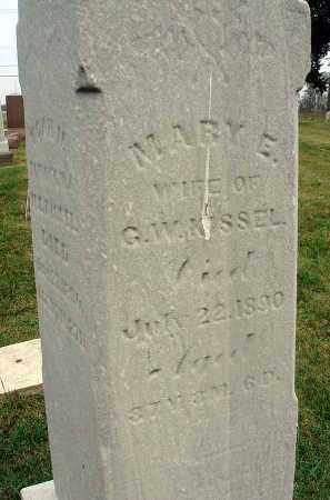 KISSEL, MARY E. - Fairfield County, Ohio   MARY E. KISSEL - Ohio Gravestone Photos