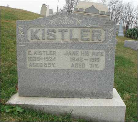 KISTLER, ELIJAH - Fairfield County, Ohio | ELIJAH KISTLER - Ohio Gravestone Photos