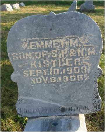 KISTLER, EMMET M. - Fairfield County, Ohio | EMMET M. KISTLER - Ohio Gravestone Photos