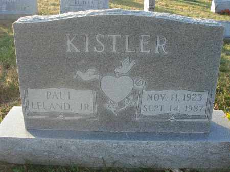 KISTLER, PAUL LELAND - Fairfield County, Ohio | PAUL LELAND KISTLER - Ohio Gravestone Photos