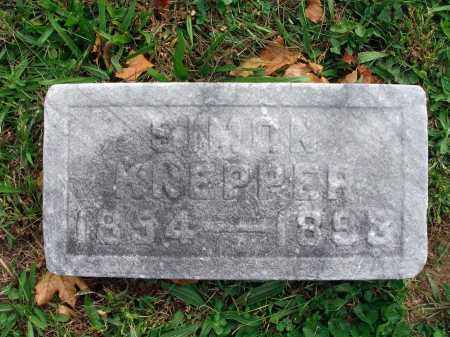 KNEPPER, SIMON - Fairfield County, Ohio | SIMON KNEPPER - Ohio Gravestone Photos