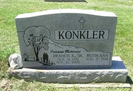 KONKLER, SR., FRANCIS X. - Fairfield County, Ohio | FRANCIS X. KONKLER, SR. - Ohio Gravestone Photos