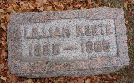 KORTE, LILLIAN - Fairfield County, Ohio | LILLIAN KORTE - Ohio Gravestone Photos