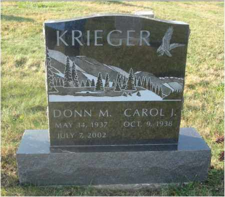 KRIEGER, DONN MELVIN - Fairfield County, Ohio | DONN MELVIN KRIEGER - Ohio Gravestone Photos