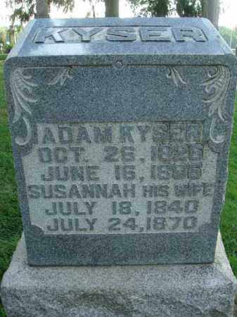 KYSER, SUSANNAH - Fairfield County, Ohio | SUSANNAH KYSER - Ohio Gravestone Photos