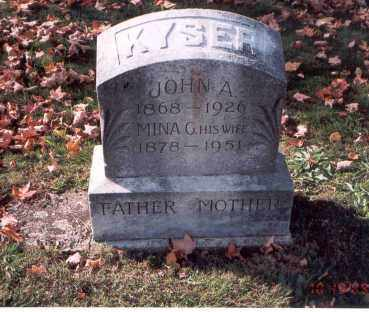 KYSER, MINA G. - Fairfield County, Ohio | MINA G. KYSER - Ohio Gravestone Photos