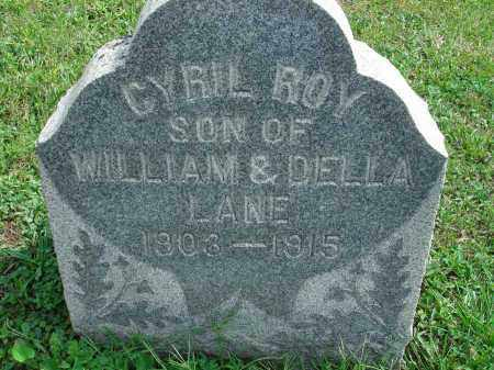 LANE, CYRIL ROY - Fairfield County, Ohio | CYRIL ROY LANE - Ohio Gravestone Photos