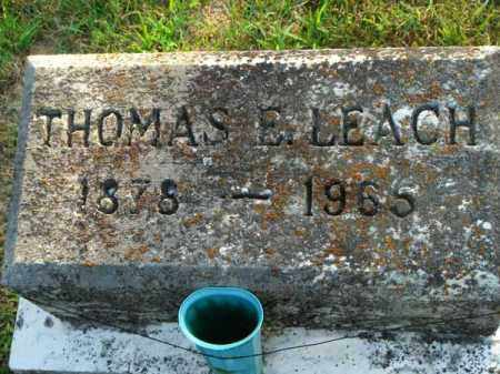 LEACH, THOMAS E. - Fairfield County, Ohio | THOMAS E. LEACH - Ohio Gravestone Photos