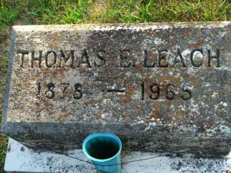 LEACH, THOMAS E. - Fairfield County, Ohio | THOMAS E. LEACH - Ohio Gravestone Photos